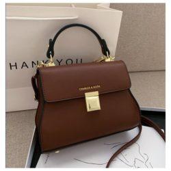 JT2055-brown Tas Handbag Selempang Wanita Cantik Import