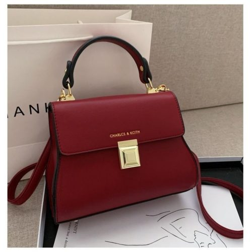 JT2055-red Tas Handbag Selempang Wanita Cantik Import
