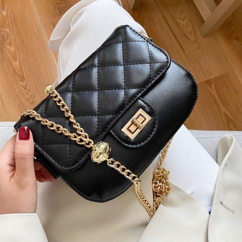 JT2070-black Tas Selempang Wanita Elegan Import Terbaru