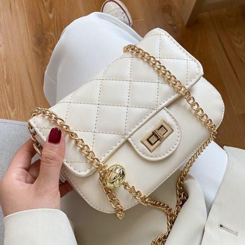 JT2070-white Tas Selempang Wanita Elegan Import Terbaru