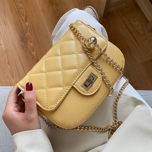 JT2070-yellow Tas Selempang Wanita Elegan Import Terbaru