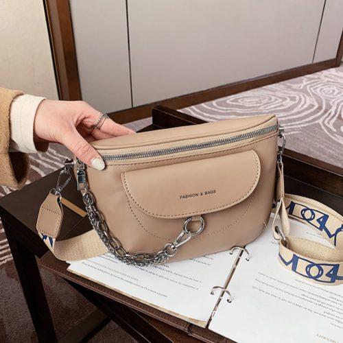 JT2102-khaki Tas Selempang Fashion Import Wanita Terbaru