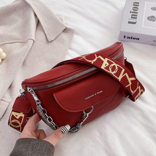 JT2102-red Tas Selempang Fashion Import Wanita Terbaru