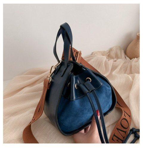 JT214548-blue Tas Selempang Modis Wanita Cantik