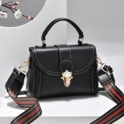 JT2182-black Tas Handbag Selempang Wanita Elegan Import