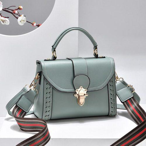JT2182-green Tas Handbag Selempang Wanita Elegan Import