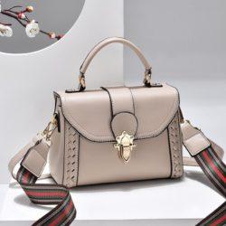 JT2182-khaki Tas Handbag Selempang Wanita Elegan Import