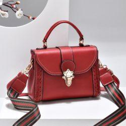 JT2182-red Tas Handbag Selempang Wanita Elegan Import