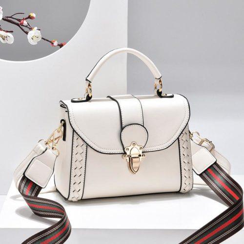 JT2182-white Tas Handbag Selempang Wanita Elegan Import