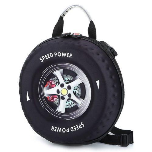 JT2224-black Tas Slingbag Anak Model Ban Mobil Keren Terbaru