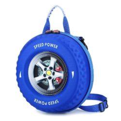 JT2224-blue Tas Slingbag Anak Model Ban Mobil Keren Terbaru