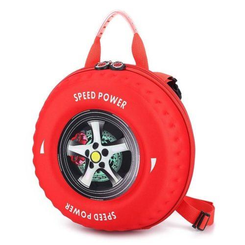 JT2224-red Tas Slingbag Anak Model Ban Mobil Keren Terbaru
