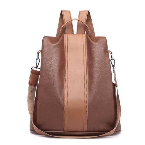 JT2443-brown Tas Ransel Import Wanita Bisa Selempang