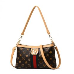 JT2468 IDR.140.000 MATERIAL PU SIZE L25XH15XW6CM WEIGHT COLOR FLOWER-BROWN