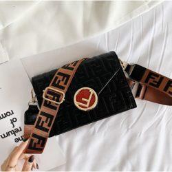 JT25522-black Tas Selempang Import Wanita Elegan