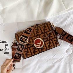 JT25522-brown Tas Selempang Import Wanita Elegan