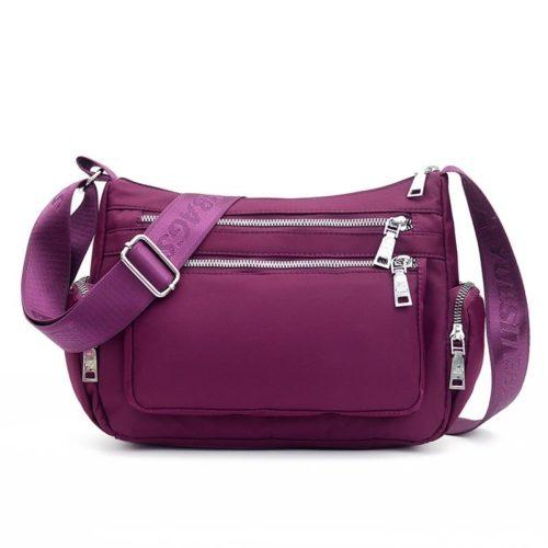 JT264514-purple Tas Selempang Multi Fungsi Wanita Cantik