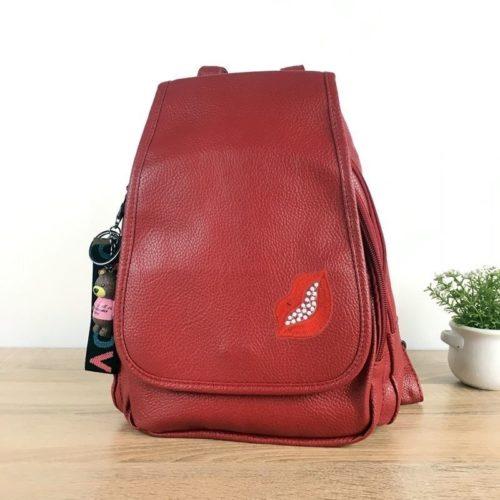 JT2672-red Tas Ransel Fashion Wanita Terbaru Import