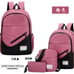 JT275-pink Tas Ransel Canvas Oxport Unisex Import