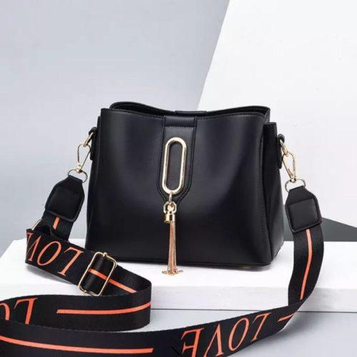 JT28090-black Tas Selempang Fashion Wanita Cantik Import Terbaru