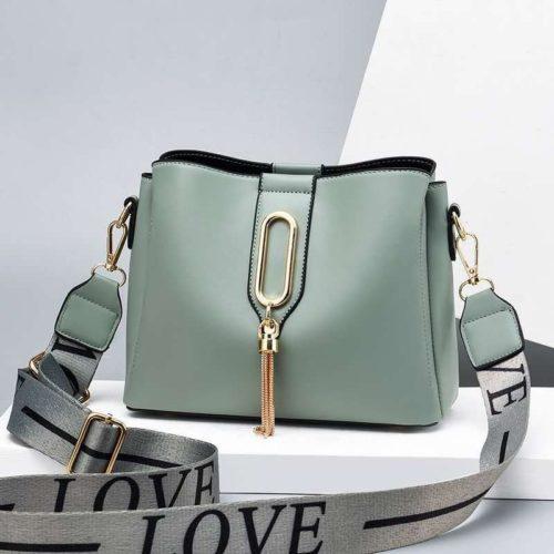 JT28090-green Tas Selempang Fashion Wanita Cantik Import Terbaru