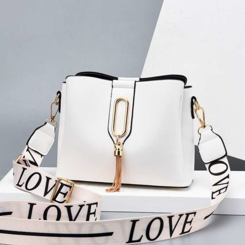 JT28090-white Tas Selempang Fashion Wanita Cantik Import Terbaru