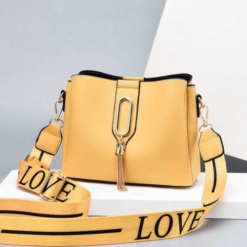 JT28090-yellow Tas Selempang Fashion Wanita Cantik Import Terbaru