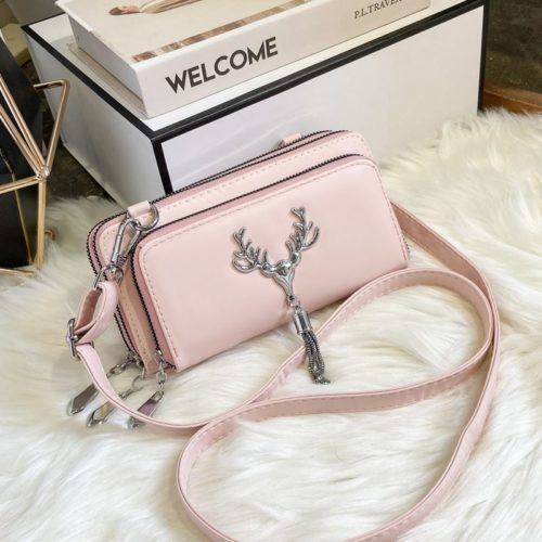 JT28765-pink Tas Selempang Wanita Elegan Cantik Import Terbaru