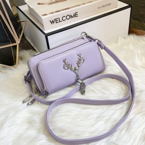 JT28765-purple Tas Selempang Wanita Elegan Cantik Import Terbaru