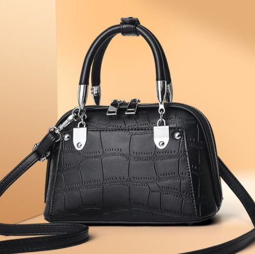 JT28771-black Tas Handbag Selempang Wanita Elegan Import
