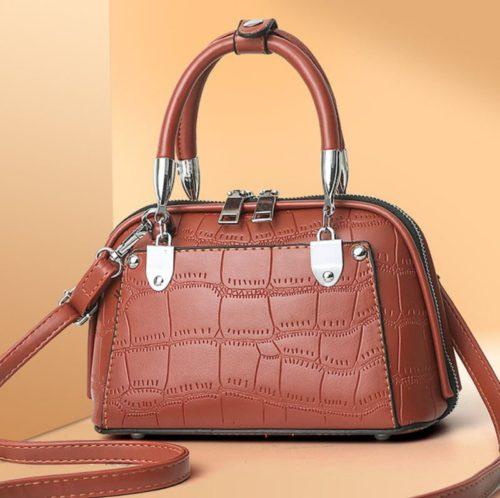 JT28771-brown Tas Handbag Selempang Wanita Elegan Import