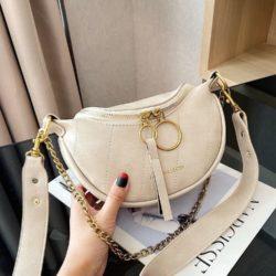 JT30337-beige Waist Bag Import Elegan Wanita Cantik