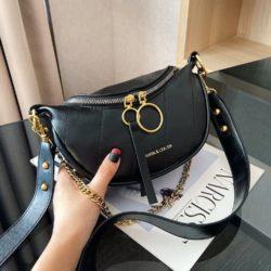 JT30337-black Waist Bag Import Elegan Wanita Cantik