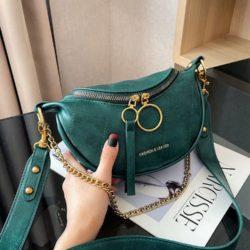 JT30337-green Waist Bag Import Elegan Wanita Cantik