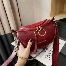 JT30337-red Waist Bag Import Elegan Wanita Cantik