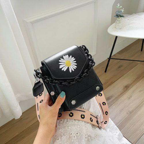 JT30340-black Tas Selempang Handphone Wanita Cantik Import