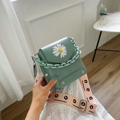 JT30340-green Tas Selempang Handphone Wanita Cantik Import