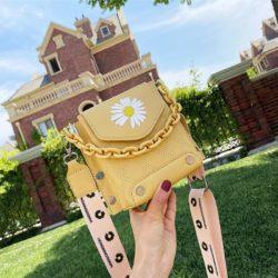 JT30340-yellow Tas Selempang Handphone Wanita Cantik Import