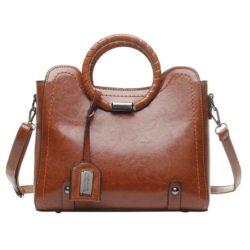 JT30352-brown Tas Hand Bag Selempang Wanita Elegan Import