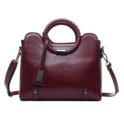 JT30352-wine Tas Hand Bag Selempang Wanita Elegan Import