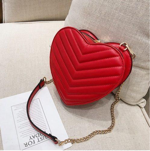 JT305-red Tas Selempang LOVE Cantik Modis