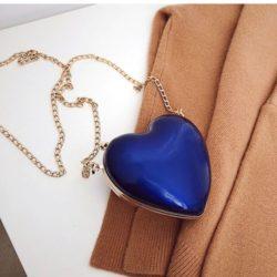 JT3052-blue Tas Selempang LOVE Wanita Cantik