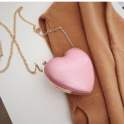 JT3052-pink Tas Selempang LOVE Wanita Cantik