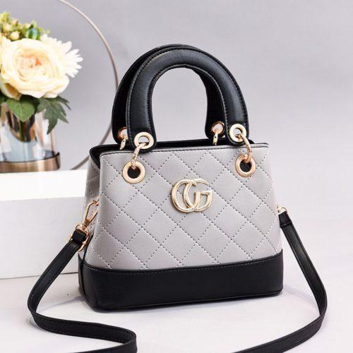 JT3079-gray Tas Handbag Wanita Elegan Import Terbaru