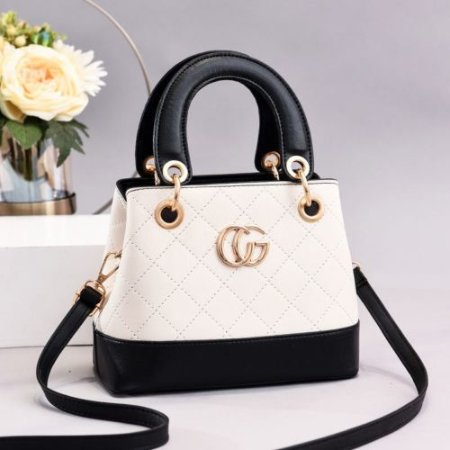 JT3079-white Tas Handbag Wanita Elegan Import Terbaru