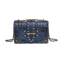 JT309103-blue Tas Selempang Pesta Cantik Import