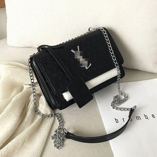 JT3133-blackwhite Tas Selempang Import Wanita Elegan Terbaru