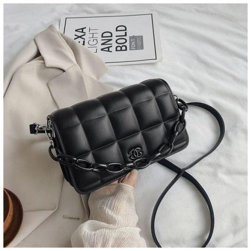 JT3136-black Tas Selempang Import Chain Elegan Terbaru