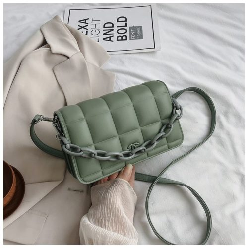 JT3136-green Tas Selempang Import Chain Elegan Terbaru