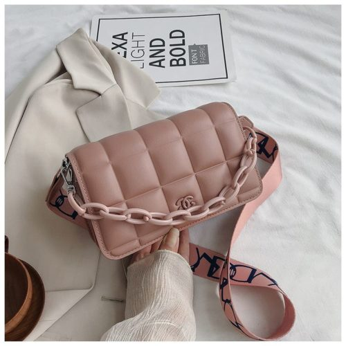 JT3136-pink Tas Selempang Import Chain Elegan Terbaru